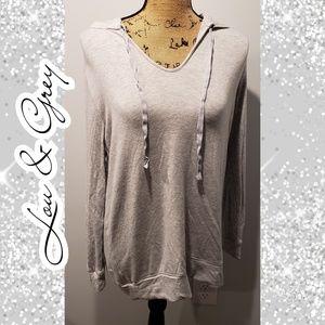 Lou & Grey hoodie shirt top loose soft small
